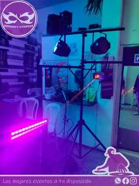 Servicio de Dj y animador alquiler de sonido y luces para 15 años hora loca protocolo servicio de meseros