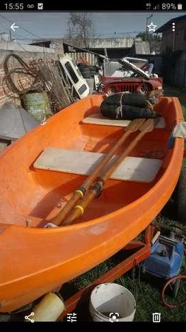 Vendo bote completo con tráiler y lona