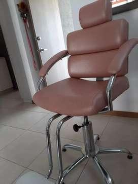 Vendo silla oro rosa peluqueria
