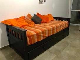 Cama marinera + 2 colchones + cubre colchón