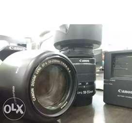 Camera 700d & 18-55lence .55-250lence ,1 filter canon good condition