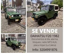En venta Daihatsu F20 1982 en excelentes condiciones, todo funcional, documentación al día