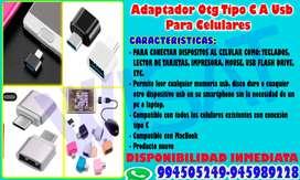 Adaptador Otg Tipo C A Usb Para Celulares