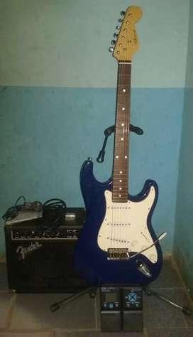 Amplificador + Guitarra + Pedalera multiefectos