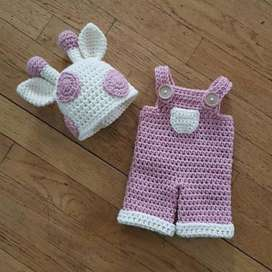 Gorro con Pantalones para Bebé