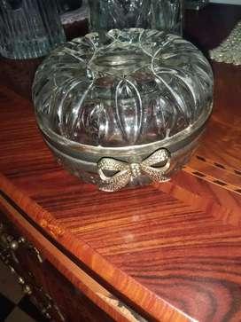 Antiguo joyero cristal italiano