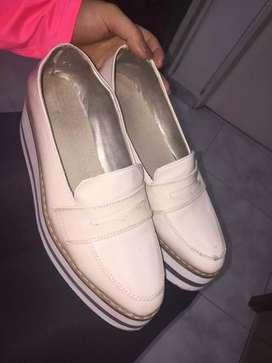 Zapatos beige/rosa