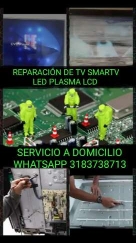 REPARACIÓN DE TV LED LCD PLASMA SMARTV Y AUDIO A DOMICILIO