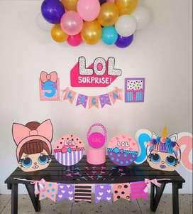 Vendo decoraciones  listas para armar tu fiesta en casa