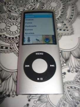 iPod Nano 16gb Plateado Impecable Estado Y Sonoridad!!