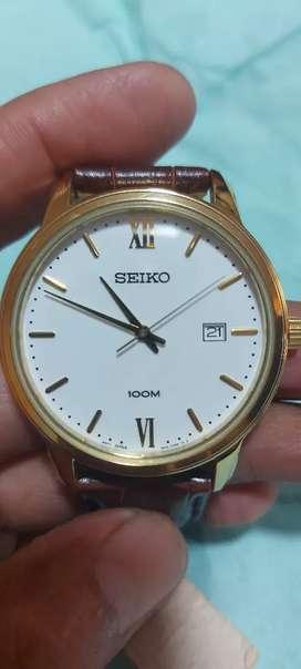 Seiko clásico nuevo correa de cuero original.