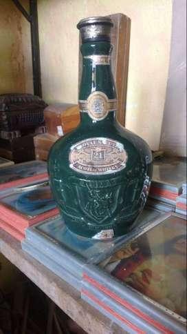 Botella Vacio Scoth Whisky Chivas Brothers Porcelana Ltda 750 Ml 21 años Usada