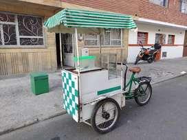 Triciclo para vender helado