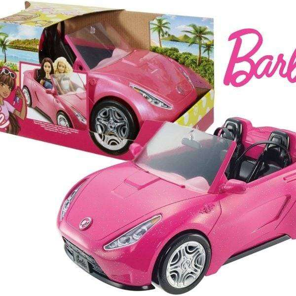 AUTO GLAM BARBIE EN ROSA BRILLANTE DE MATTEL Auto Convertible Muñeca Niña Juguete 0