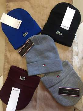 Gorros lacoste y tommy
