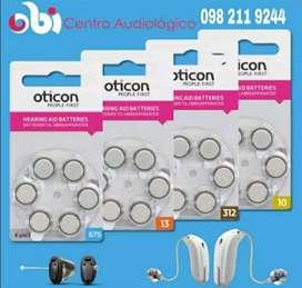 Pilas para Audífonos y Prótesis Auditivas Originales en Marca Oticon