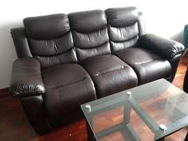 Remato muebles de cuero 321 +regalo