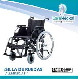 Sillas de Ruedas de Aluminio Care Quip A511 - Ortopedia Care Medical