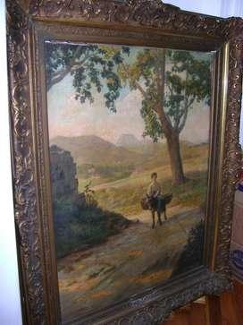Cuadro pintura francesa J. B. Eschemann País Vasco 1909 / Maxim Nord