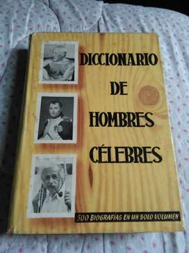 Diccionario de Hombres Celebres 500 biografias 1958 Einstein Napoleon
