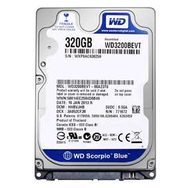 Disco Duro Notebook 2.5 320gb Hdd 5400 Rpm Western Digital