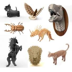 Paquete 150 Vectores Corte Láser Animales 3D y 2D