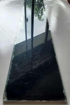 Vidrio estante de botiquin 10 x 62 cm negro de base