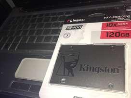 Disco rigido ssd instalado en notebook o pc 120gb