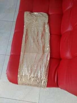 Vestido Brillante Largo Dorado