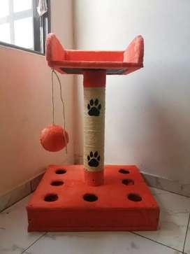 Torre Rascador para gato juego de ping-pong