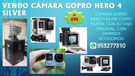 cámara gopro hero 4 silver