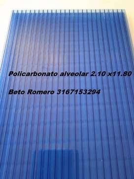 Policarbonato Alveolar todos los colores 2.10x11.80