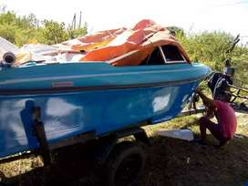 Vendo Lancha-motor y trailer