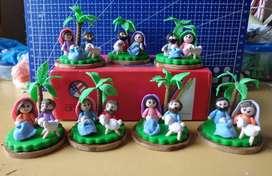 Pesebres pequeños en Porcelanicron o Porcelana fria