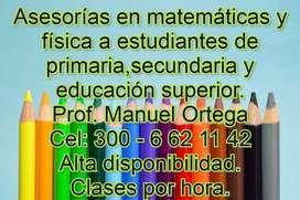 Asesorías en matemáticas y física