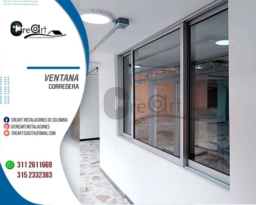 ventanas en aluminio natural