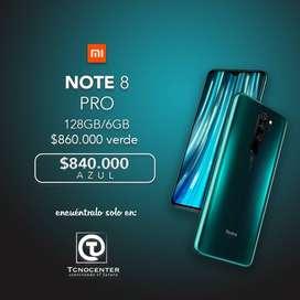 Xiaomi note 8 pro 6GB/128GB, Tienda Fisica, nuevos, sellados, Garantia y factura.