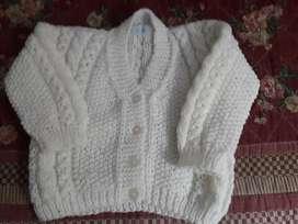Saco Bebe de lana.Tejido a mano