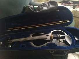 Violin eléctrico ESV898 4/4, negro, funcional, con estuche y colofonia