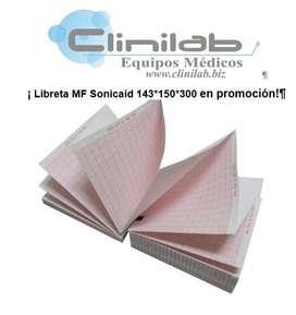 Libreta MF Sonicaid 143*150*300
