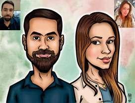 Dibujos, Caricaturas y Retratos Personalizados