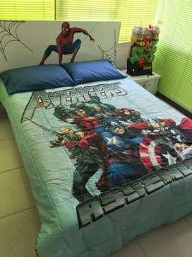 Acolchado cama doble para niño