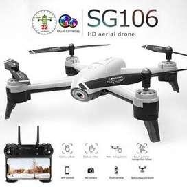 Drone Sg106 1080 Flujo Óptico Wifi Fpv Cámara Dual 22 Minutos