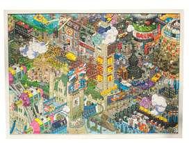 Puzzle Londres Comic armado y enmarcado