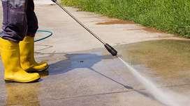 Limpieza profunda con hidrolavadora de exteriores o interiores de su casa