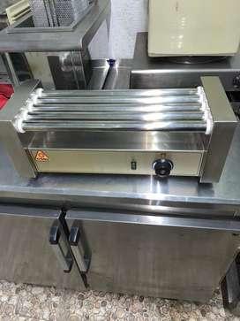 !!! REMATO !!! Asador de salchichas en acero de 5 rodillos CI TALSA electrico 115 v usado y negociable