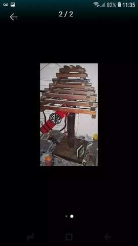 Vendo lampara de madera