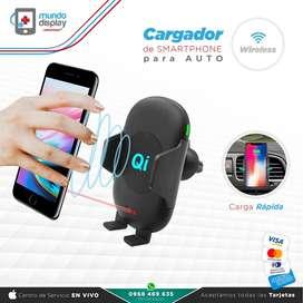Cargador de Auto inalámbrico X9 Wireless Samsung Xioami Huawei iPhone