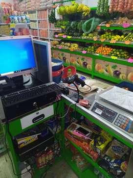 Sistema punto de venta para FRUVER con equipos y software.