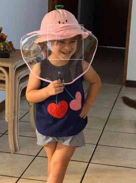 Gorros - sombreros con protector facial - Niños y adultos